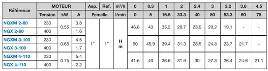 Calpeda NGX pompe à eau 0.75 kW