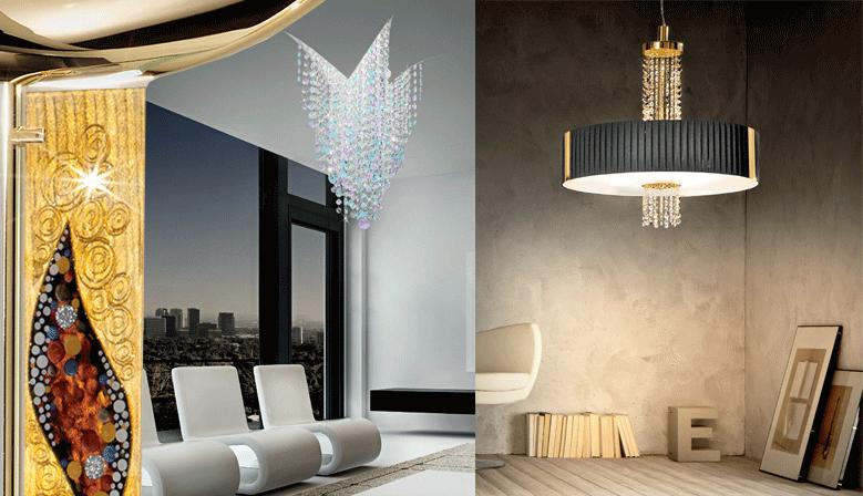 éclairage de luxe, luminaires Kolarz, créez votre style
