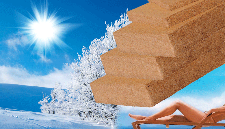 Isoler naturellement en fibre de bois, isolant souple, naturel, confort thermique et confort d'été